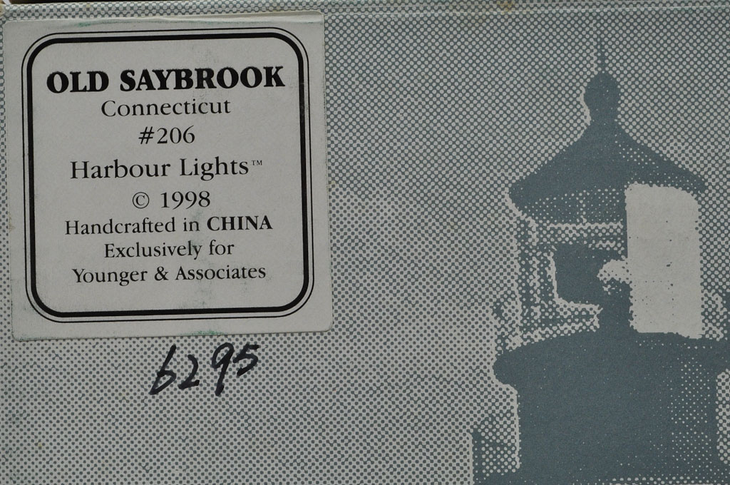 Old Saybrook CT Lighthouse HL206 #6295/10000 1998 Harbour Lights - Click Image to Close