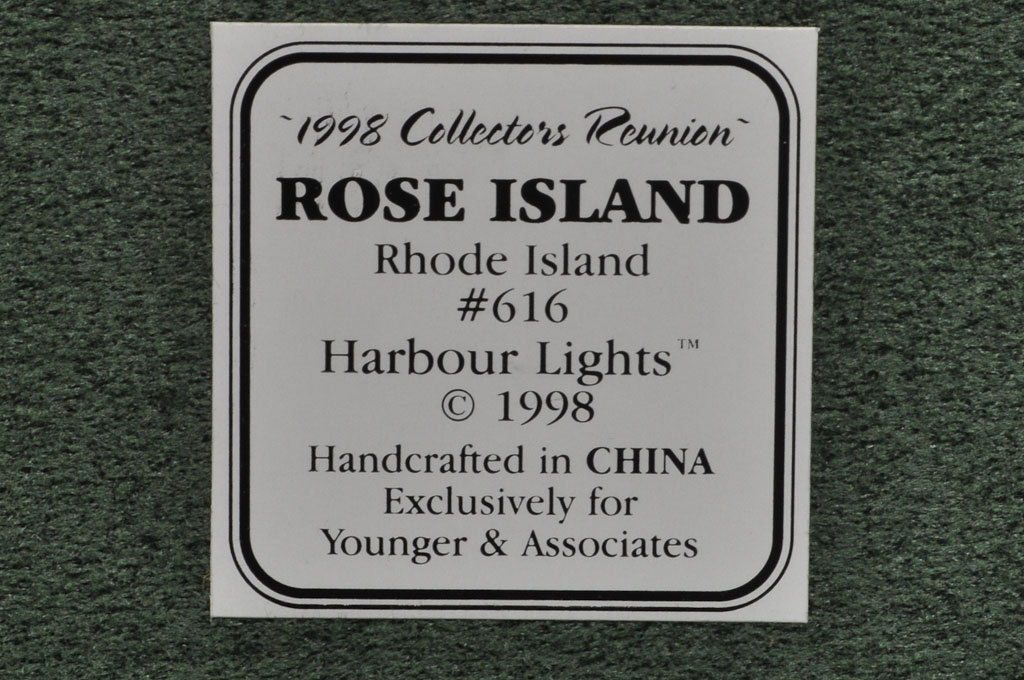 Rose Island, RI HL616 5472 1998 Harbour Lights® - Click Image to Close