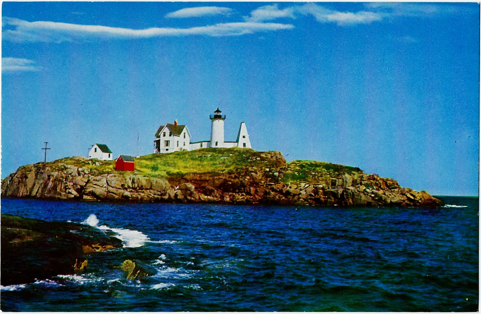 NUBBLE LIGHTHOUSE YORK MAINE POSTCARD ME581 (ME) [LHPCV0002] - $2.36 ...