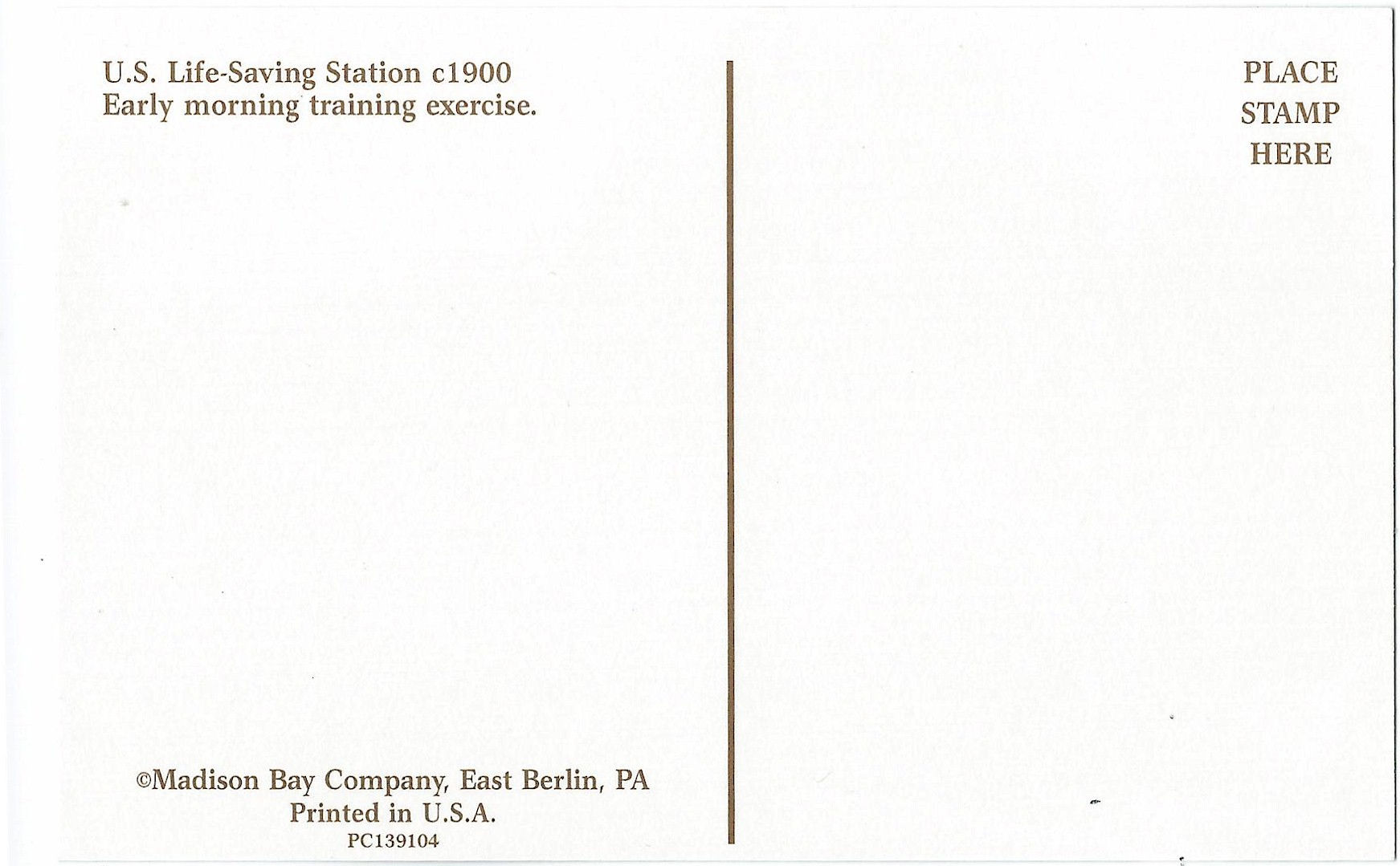 US Life Saving Service: Station Training Postcard PC139104 - Click Image to Close